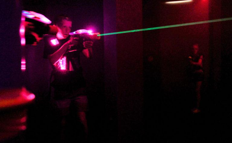 Laser Tag in the Dark